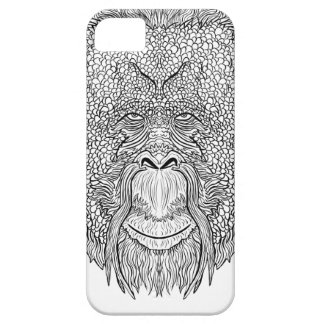 Orangutan Monkey Tee - Tattoo Art Style Coloring iPhone 5 Covers
