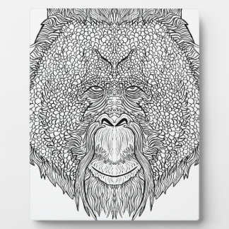 Orangutan Monkey Tee - Tattoo Art Style Coloring Plaque