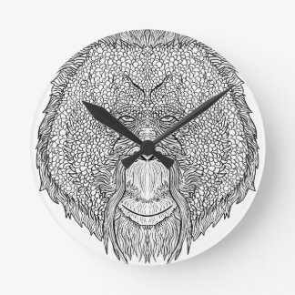 Orangutan Monkey Tee - Tattoo Art Style Coloring Wallclocks