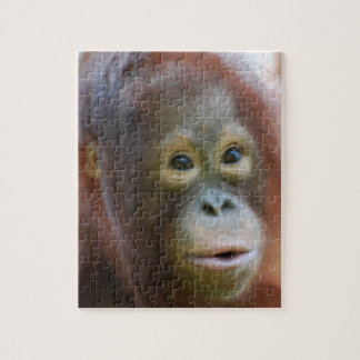 Orangutan on Island of Borneo Jigsaw Puzzle