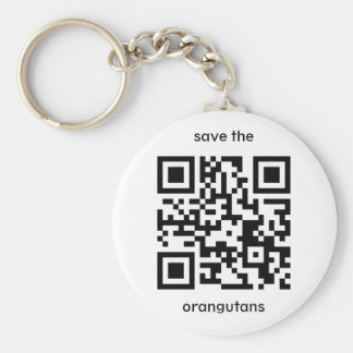 Orangutan QR code Keychain
