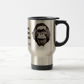 Orangutan Rainforest Preservation Official Logo Travel Mug