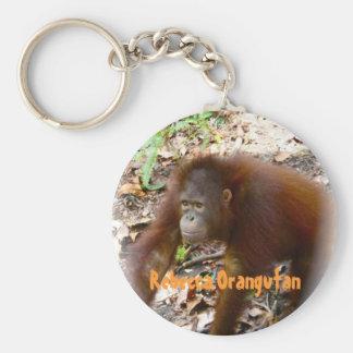 Orangutan Rebecca in Borneo Keychain