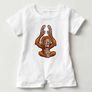 Orangutan Safari Animals Cartoon Character Baby Romper