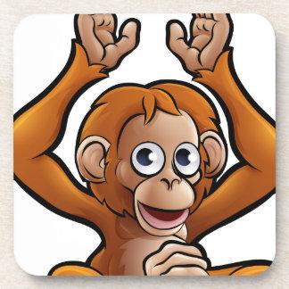 Orangutan Safari Animals Cartoon Character Coaster