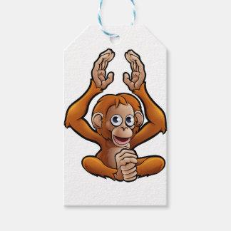 Orangutan Safari Animals Cartoon Character Gift Tags