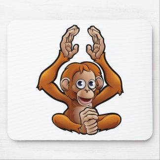 Orangutan Safari Animals Cartoon Character Mouse Pad