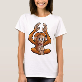Orangutan Safari Animals Cartoon Character T-Shirt