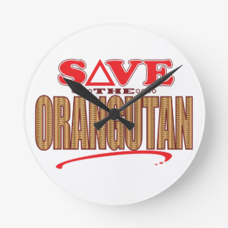 Orangutan Save Wall Clock