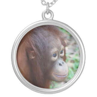 Orangutan Silver Plated Necklace