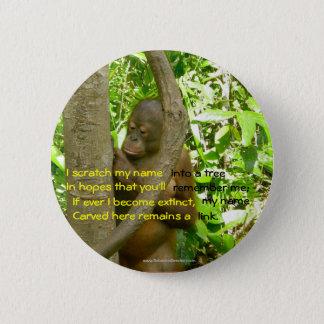 Orangutan Tribute 2 Inch Round Button
