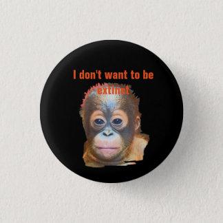 Orangutan Wildlife 1 Inch Round Button