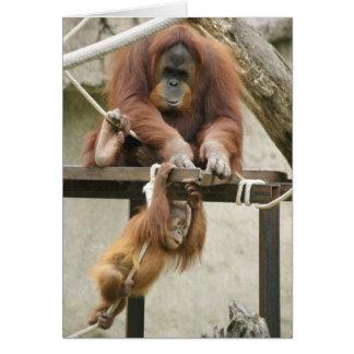 """orangutang"" mother's day greeting card"