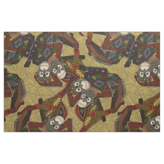 orangutans gold fabric