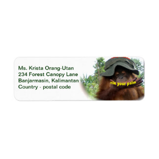 Orangutans In Your Palm Custom Return Address Labels