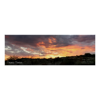 Orania Sunset Poster