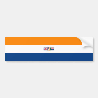 Oranje Blanje Blou, South African Flag (1928-1994) Bumper Sticker