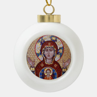 Oranta Mother of God  Icon Christmas Ornament