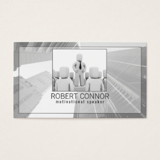 Orator Motivational Speaker Life Coach Card