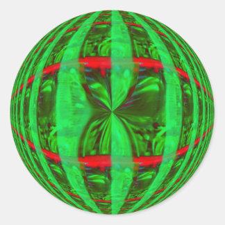 Orb Green sticker round