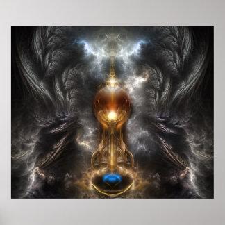 Orb Of Light Fractal Art Wall Poster