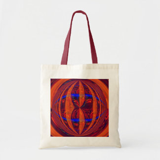 Orb Red budget tote bag