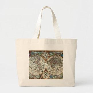 Orbis Terrarum 1594 - Famous World Map Jumbo Tote Bag