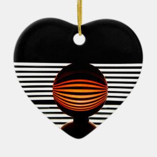 Orbital Ceramic Heart Ornament
