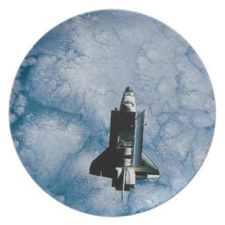 Orbiting Space Shuttle Plate