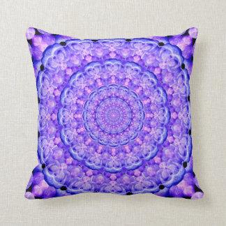 Orbs of Light Mandala Throw Pillow