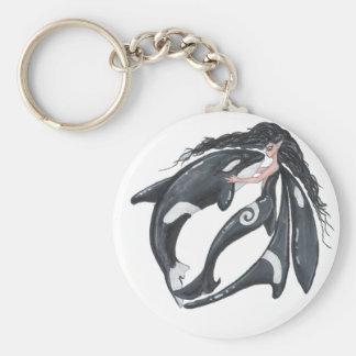 Orca and Fairy Keychain