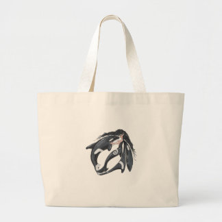 Orca and Fairy Large Tote Bag