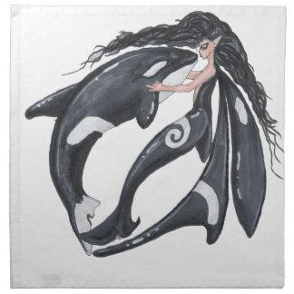 Orca and Fairy Napkin