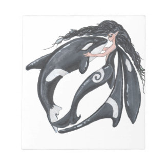 Orca and Fairy Notepad