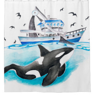 Orca And The Boat