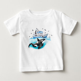 Orca And The Boat Baby T-Shirt