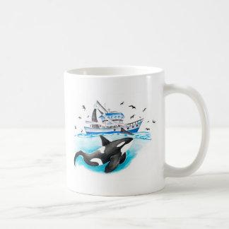 Orca And The Boat Coffee Mug