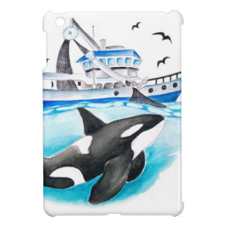 Orca And The Boat iPad Mini Cover