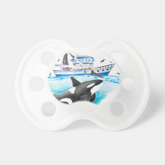 Orca And The Boat Pacifier
