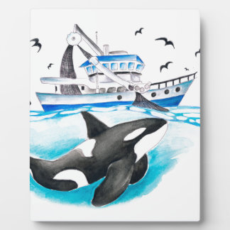 Orca And The Boat Plaque
