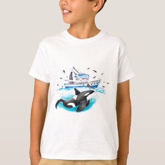 Orca And The Boat T-Shirt