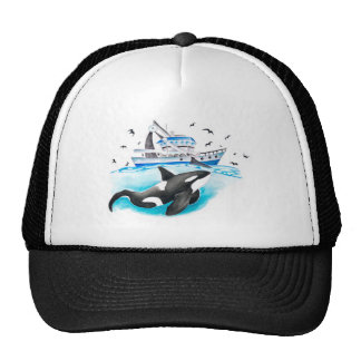 Orca And The Boat Trucker Hat