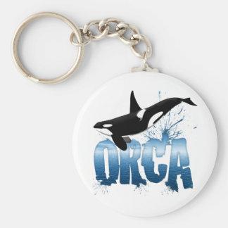 ORCA BASIC ROUND BUTTON KEYCHAIN