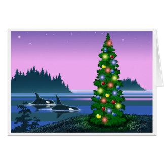 Orca Christmas card