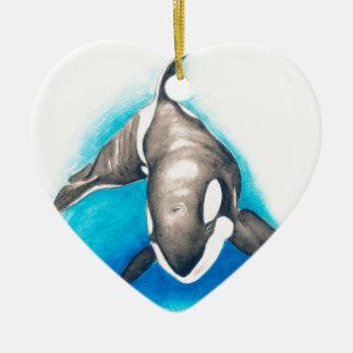 Orca Deep Dive Ceramic Ornament