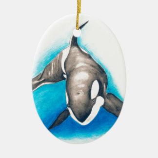 Orca Deep Dive Ceramic Ornament