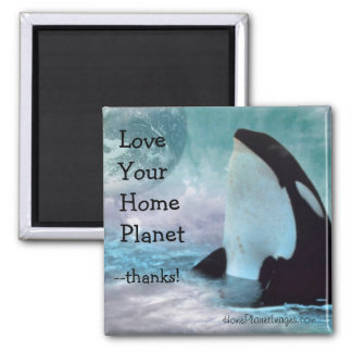 Orca Earth / Love Your Home Planet Magnet