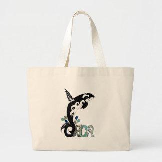 Orca Freedom Art Canvas Bags