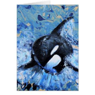 Orca greetings card