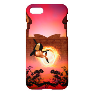 Orca in the sunset iPhone 7 case
